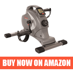 Magnetic Mini Exercise Bike with Digital Monitor and 8 Level Resistance